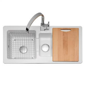 Foxboro 150 Ceramic Sink with Inset Drainer