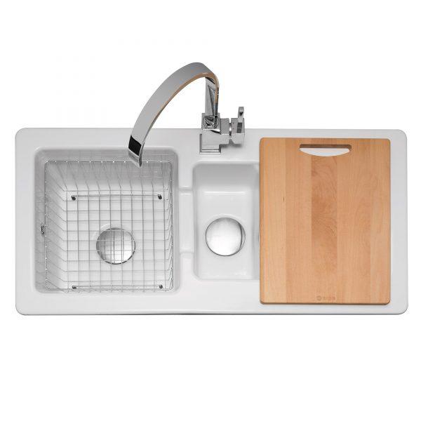 Foxboro 150 Ceramic Sink with Inset Drainer