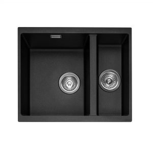 Leesti 150U Undermounted Geotech Granite Sink – Anthracite