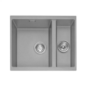 Leesti 150U Undermounted Geotech Granite Sink – Pebble Grey