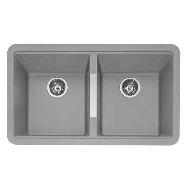 LEESTI 200 Granite Sink – Pebble Grey