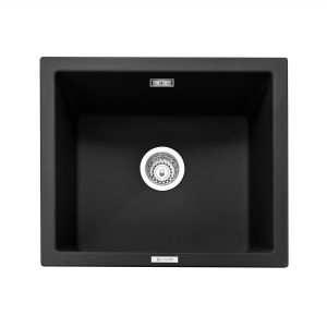 Leesti 600 Inset or Undermounted Geotech Granite Sink – Anthracite