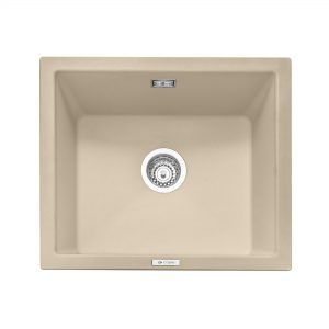 Leesti 600 Inset or Undermounted Geotech Granite Sink – Desert Sand