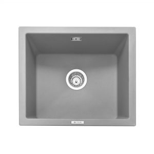 Leesti 600 Inset or Undermounted Geotech Granite Sink – Pebble Grey