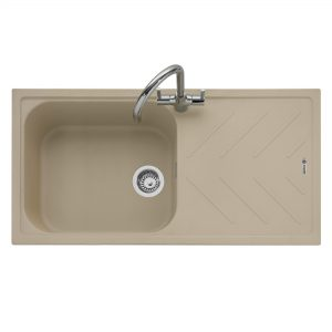Veis 100 Inset Geotech Granite Sink with Drainer – Desert Sand