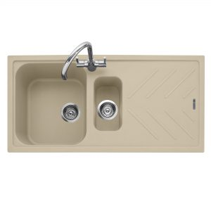 Veis 150 Inset Geotech Granite Sink with Drainer – Desert Sand