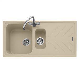 Veis 150 Inset Geotech Granite Sink with Drainer – Desert Sand